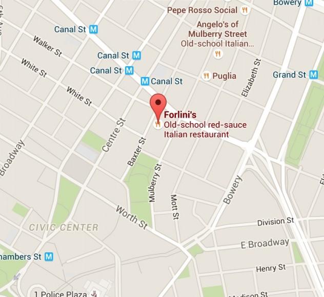 forlini's location